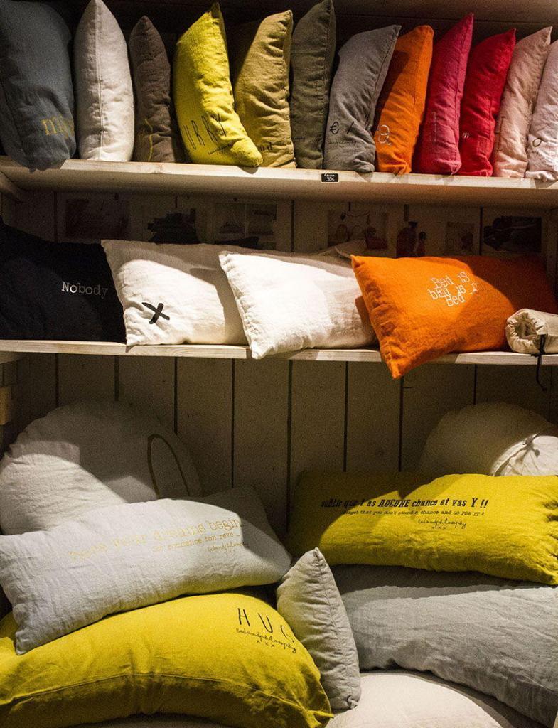 Cote d'Azur Shopping Plush Pillows at La Poule Rousse in Nice