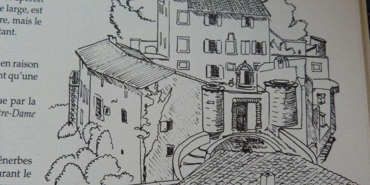 Author Elizabeth David Menerbes Sketch