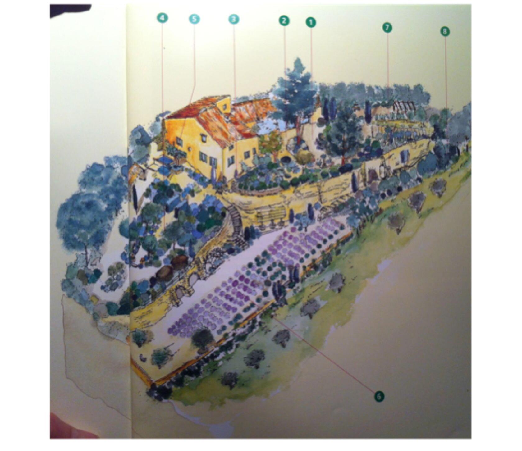 Plan La Louvre Garden Bonnieux Jardin Remarkable Luberon