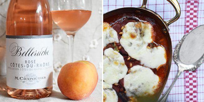 Belleruche Chapoutier Rosé Peaches Dessert