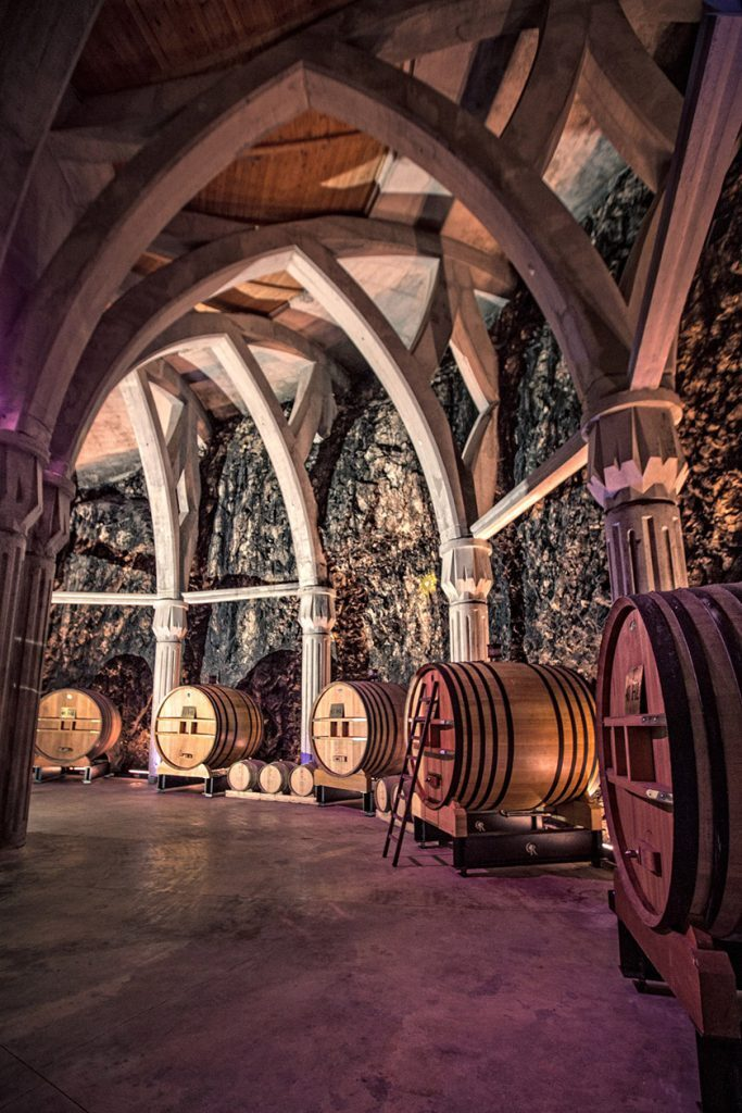 Château Romanin Wine Cave Cathedral