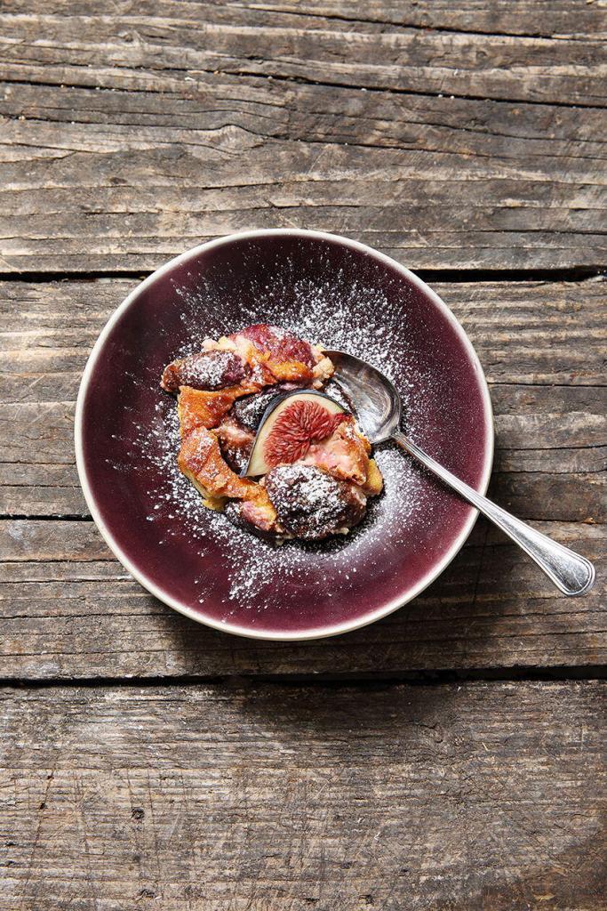 Auberge La Fenière Cuisine Libre Fig Dessert