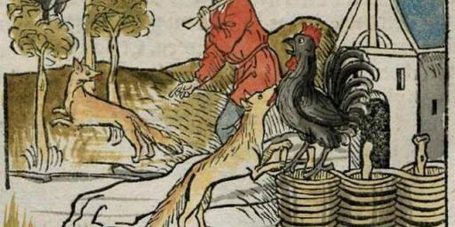 Renart Chantecler Foxes Roosters