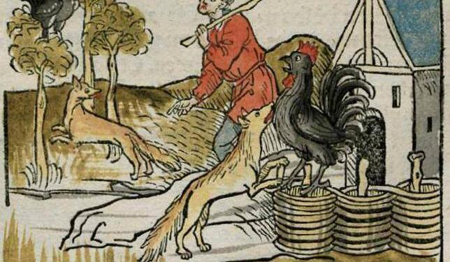 Renart Chantecler Foxes Roosters