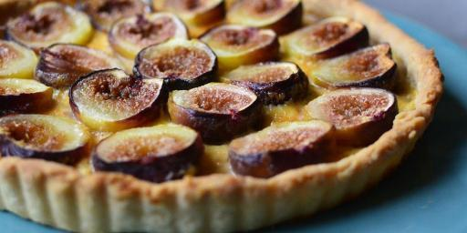 Fig Tart Orange Flower Custard