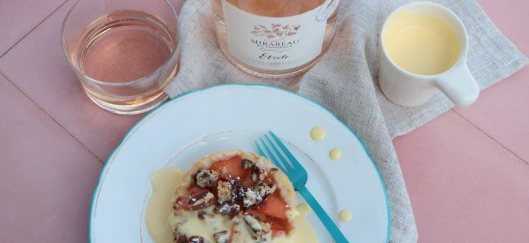 Quince Puff Pastry Tarts Roasted Pecans @MirabeauWine