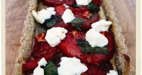 Tomato Goat Cheese Tart @ATableenProvence