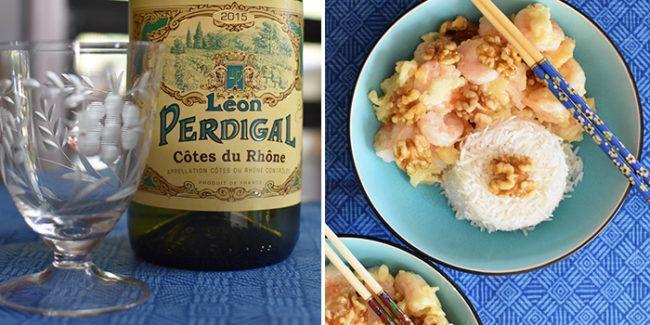ôtes du Rhône White Wine Shrimp Pairing