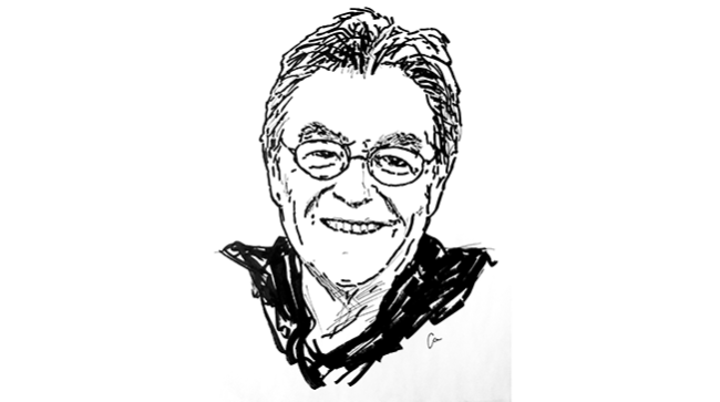 Peter Mayle Author Illustration by Alexandra Manfull