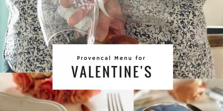 Valentine's Day Provencal Dinner Menu