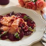 Valentines Day menu Mirabeau Beet Salmon Starter 2018