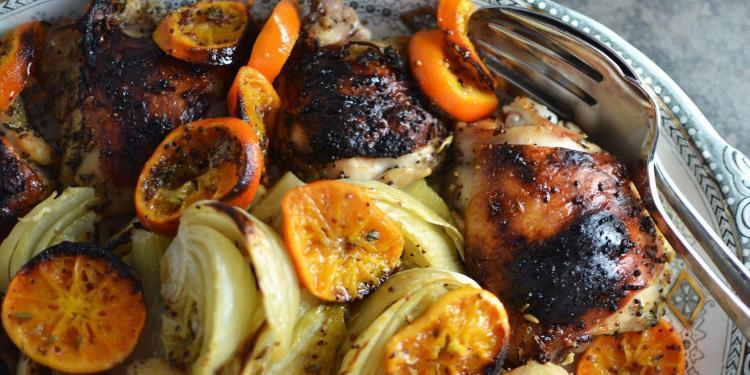 Roasted Chicken Fennel Clementines
