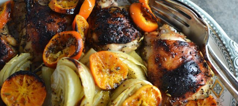 Roasted Chicken Fennel Clementines