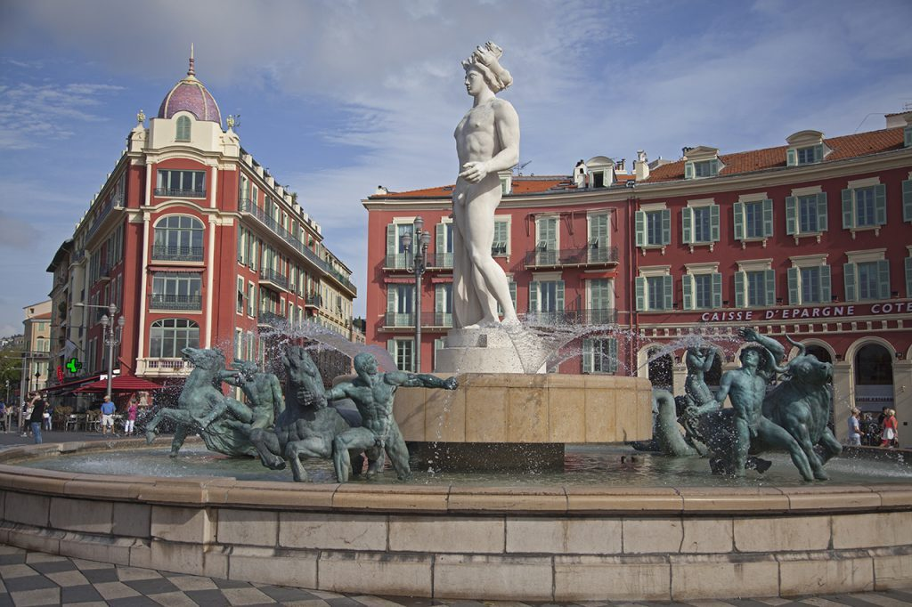 Nice Fontaine du Soleil in Place Massena Paul Shawcross