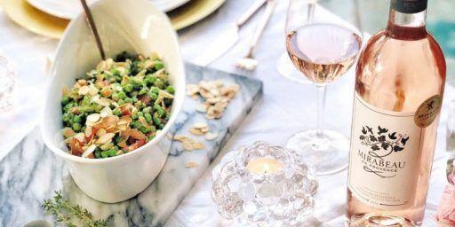 Crispy Salmon Valentine's Day mint pea salad GlendonWW @MirabeauWine