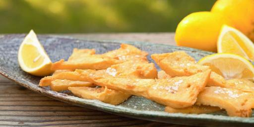 Panisse Chickpea Fritter Recipe Cote d'Azur Tasha Powell