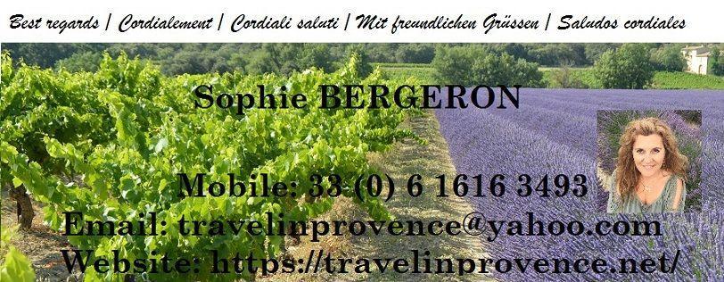 Travel Provence signature sophie bergeron