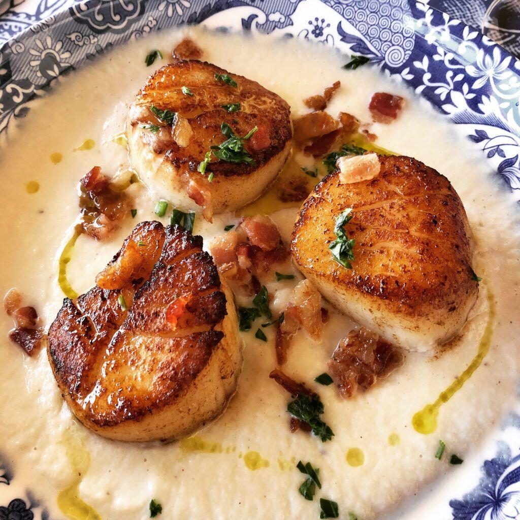 Seared Sea Scallops And Cauliflower Purée A Recipe