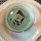 Chilled Pea Soup Crispy Prosciutto