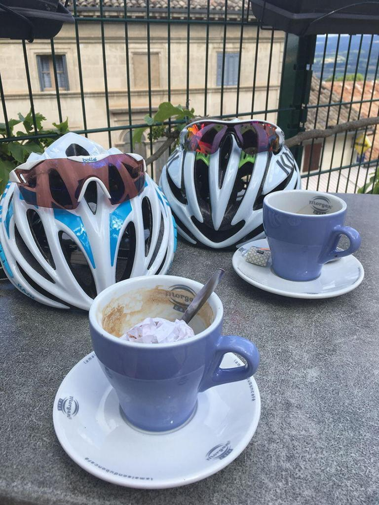 Expat Living in Provence Cycling Coffee Stop Vaucluse Dreamer