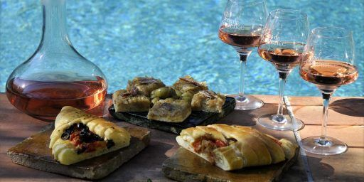 Fougasse Tomatoes Olives Peppers @SipTasteShare