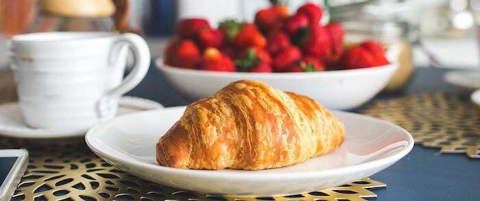 French croissant breakfast @MargoLestz