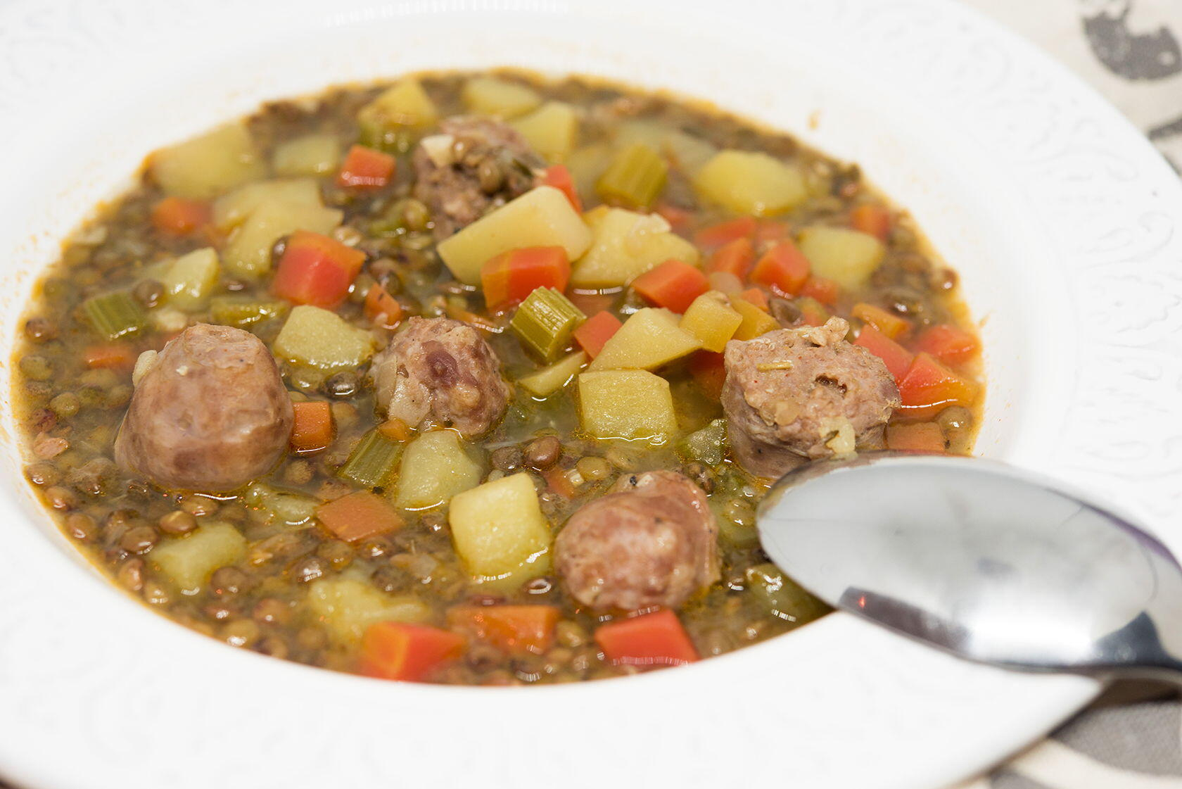 Lentil Sausage Sweet Paprika Soup Cook'n with Class