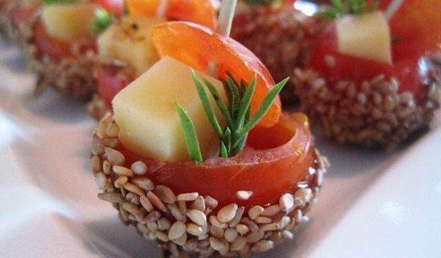 Crunchy Tomatoes Appetiser Un air de Famille