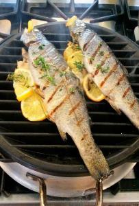 Whole Lemon Thyme Grilled Trout Tasha Powell @CookingwithaFrenchTwist
