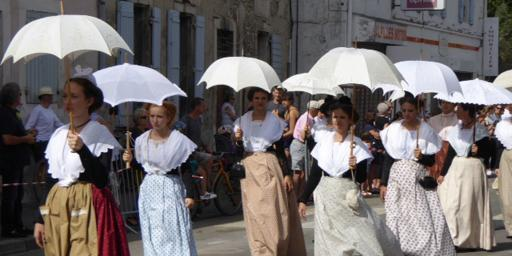 Locals parading traditional dress Provence Retirement Home Gayle Padgett
