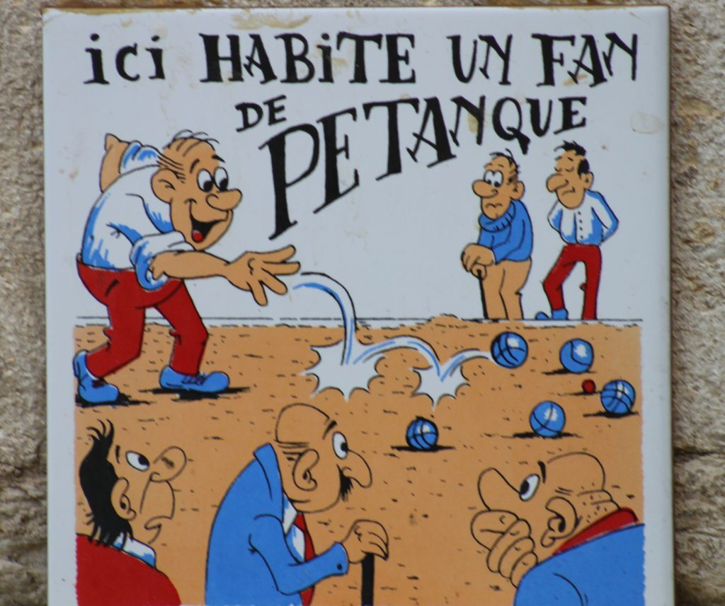 Pétanque Boules Provence Sign