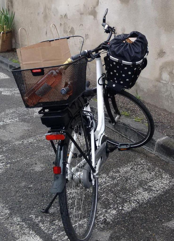 Provence Retirement Home Gayle Padgett Shopping by Bike