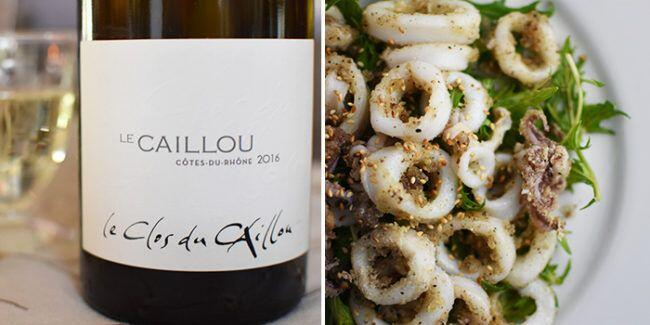 White Côtes du Rhône Wine Pairing with Calamari