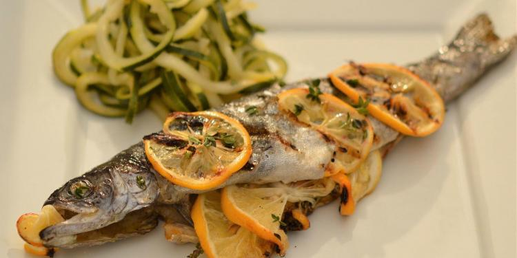 Whole Lemon Thyme Grilled Trout