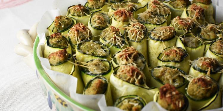 Easy Zucchini Tuna Appetizer Zucchini and Tuna Rolls