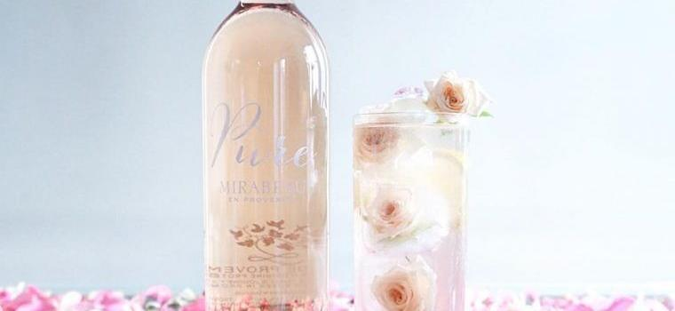Pure Rosé Cocktail Beautiful Rose Ice Cubes