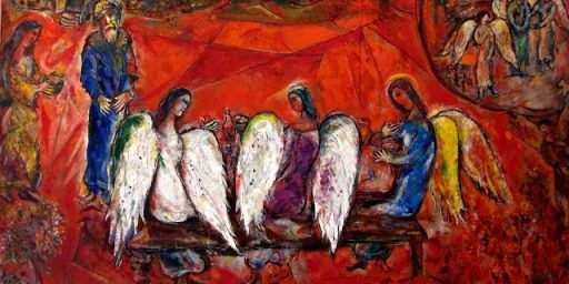 Musée National Marc Chagall Abraham _ the Three Angels