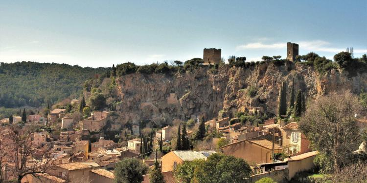 Provence Living Cotignac view from below