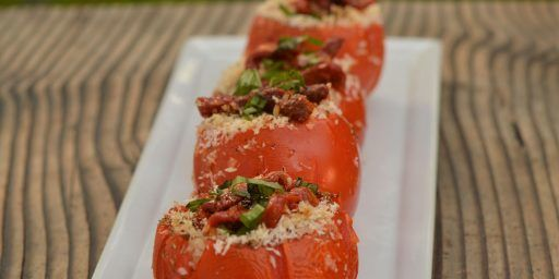 Roasted Tomatoes Provençale Stuffed Zucchini Herbs Summer Menu Tasha Powell