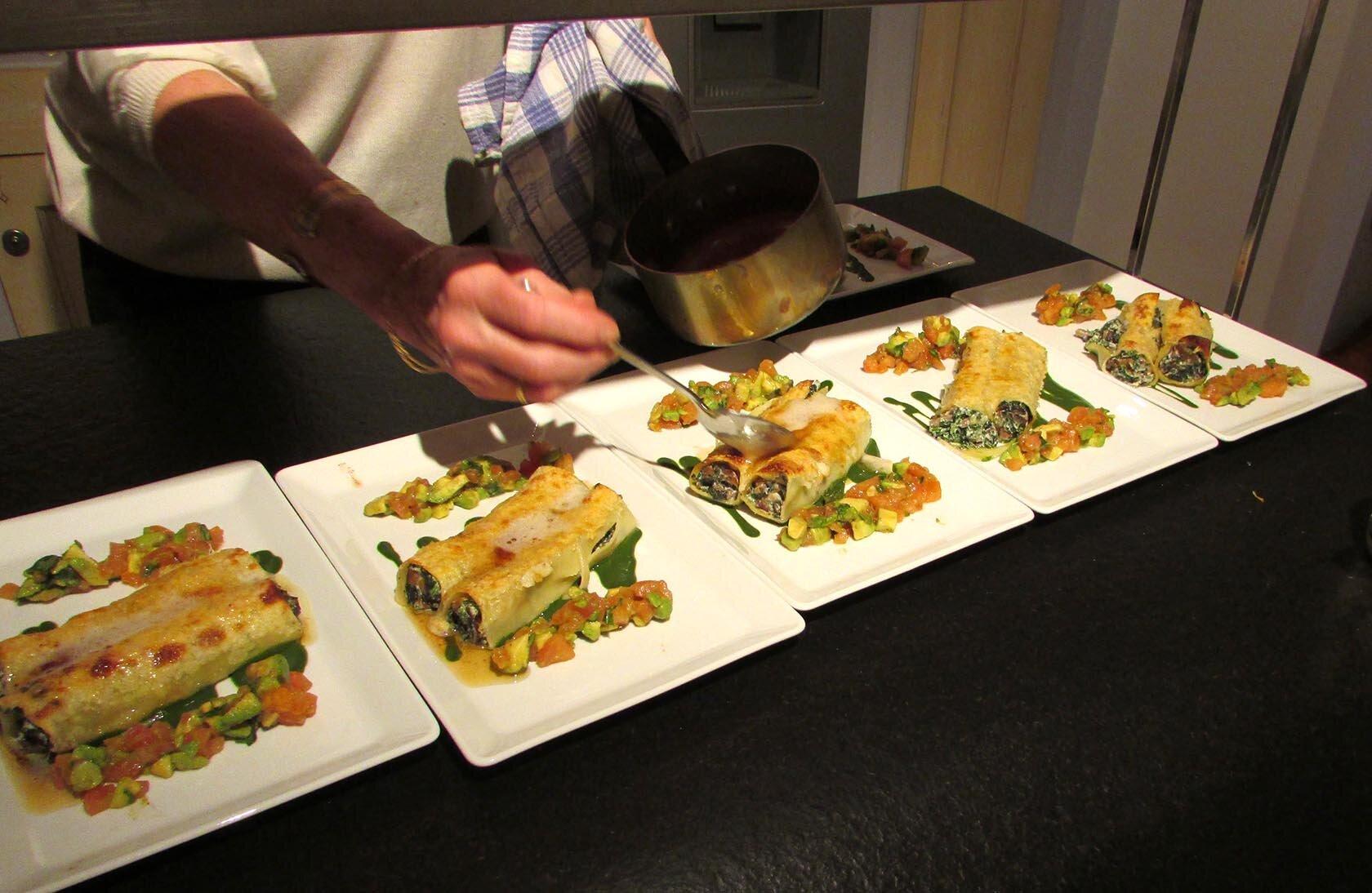 Mushroom Spinach Ricotta Cannelloni