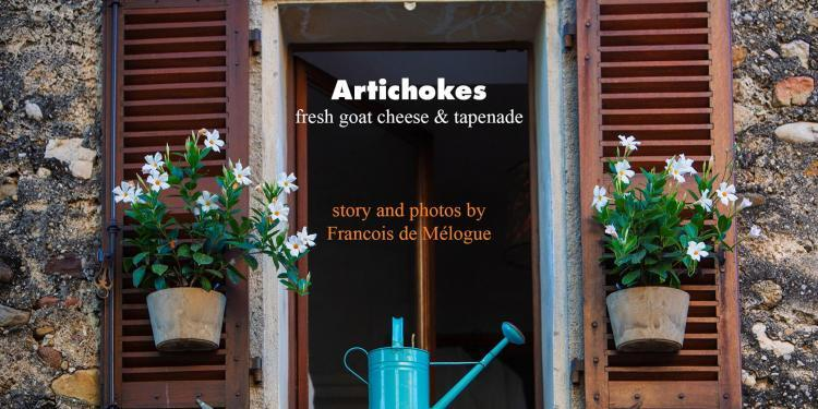 Provencal Artichokes Goat Cheese Tapenade Recipe