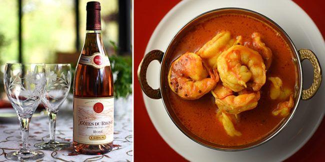 Spicy Shrimp Côtes du Rhône Rosé Pairing