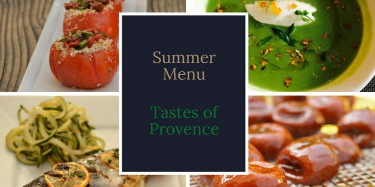 Summer Dining Dinner Party Menu 2018