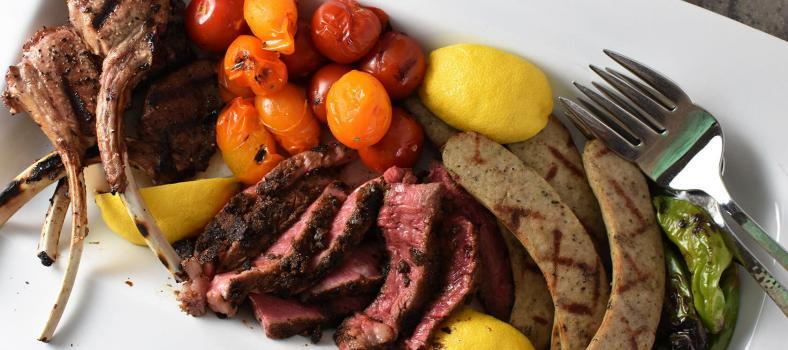 Porcini-Rubbed Steak mixed grill