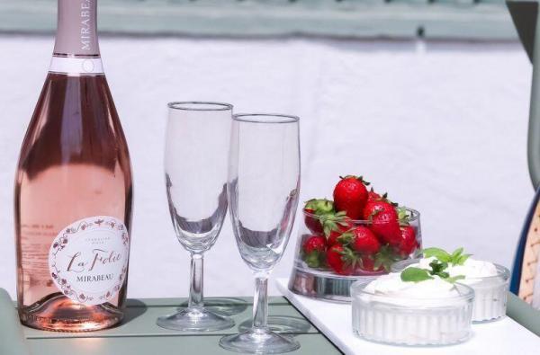 Wimbledon Strawberries Whipped Cream
