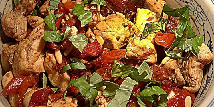 Poulet Basilic aux Tomates Confites
