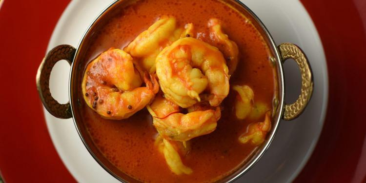 Coconut Saffron Shrimp Curry