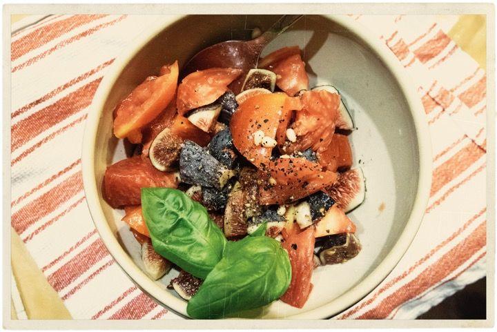 Fig Tomato Salad Recipe @AtableenProvence