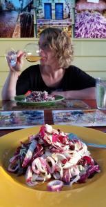 Grilled Calamari Radicchio Salad