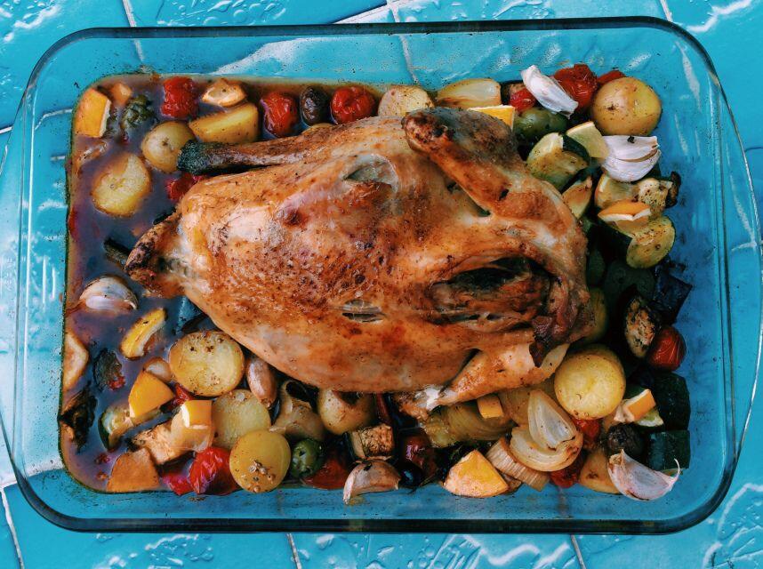 Roast Chicken Provencal Poulet au Citron